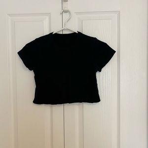 Brandy Melville Tops - Black Brandy Melville cropped T-shirt